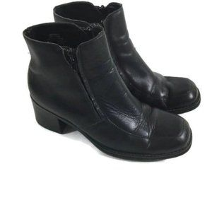 Nine West Caro Leather Ankle Boots